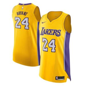 Kobe Bryant Los Angeles Lakers Nike Authentic Jersey Yellow - Icon Edition