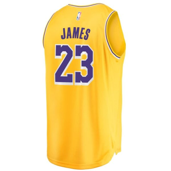 LeBron James Los Angeles Lakers Fanatics Branded Youth 2018/19 Fast Break Replica Jersey Gold - Icon Edition