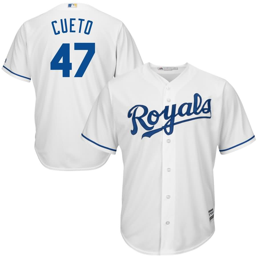 Johnny Cueto Kansas City Royals Majestic Official Cool Base Player Jersey - White