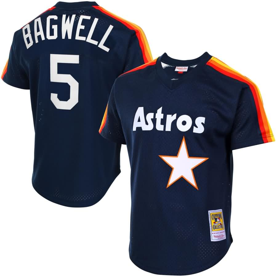 Jeff Bagwell Houston Astros Mitchell & Ness Cooperstown Mesh Batting Practice Jersey - Navy