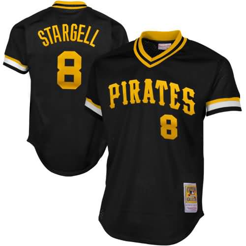 Willie Stargell Pittsburgh Pirates Mitchell & Ness 1982 Authentic Cooperstown Collection Mesh Batting Practice Jersey - Black