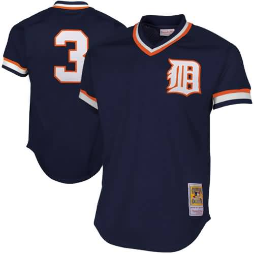 Alan Trammell Detroit Tigers Mitchell & Ness 1984 Authentic Cooperstown Collection Mesh Batting Practice Jersey - Navy