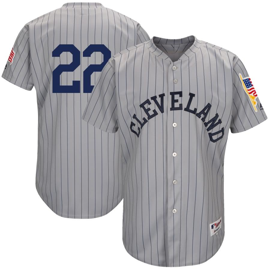Jason Kipnis Cleveland Indians Majestic 1917 Turn Back the Clock Authentic Player Jersey - Gray