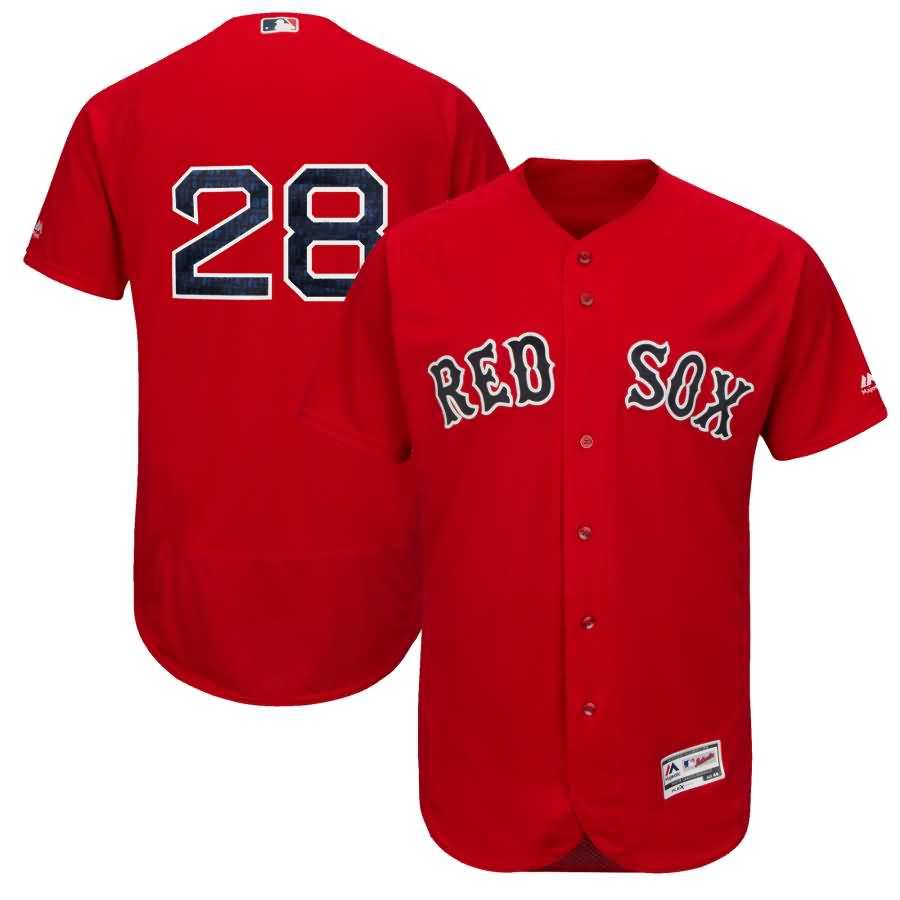 JD Martinez Boston Red Sox Majestic Authentic Collection Flex Base Player Jersey - Scarlet