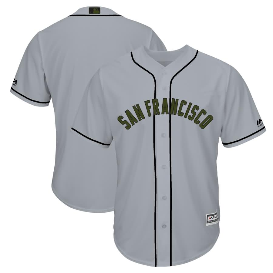 San Francisco Giants Majestic 2018 Memorial Day Cool Base Team Jersey - Gray