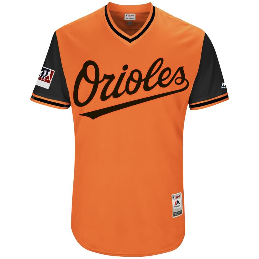 Baltimore Orioles Majestic 2018 Players' Weekend Authentic Team Jersey - Orange/Black