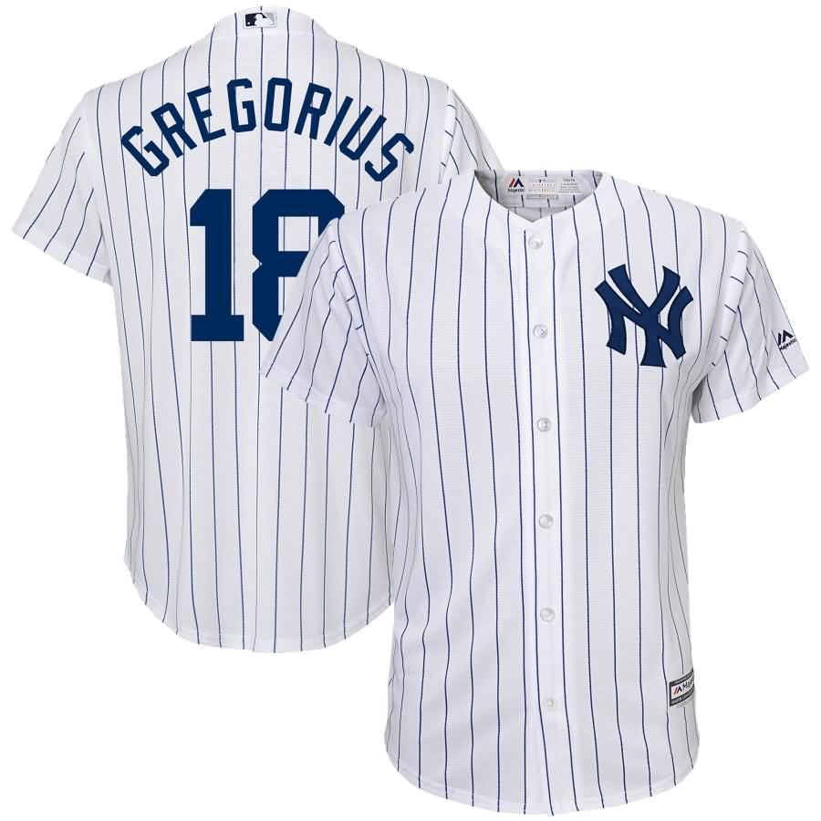 Didi Gregorius New York Yankees Majestic Youth Home Official Team Cool Base Player Jersey - White