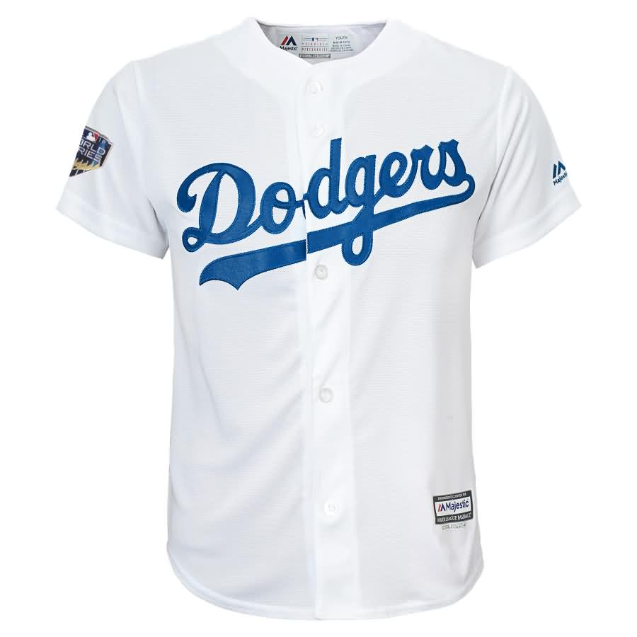 Clayton Kershaw Los Angeles Dodgers Majestic Youth 2018 World Series Player Jersey - White