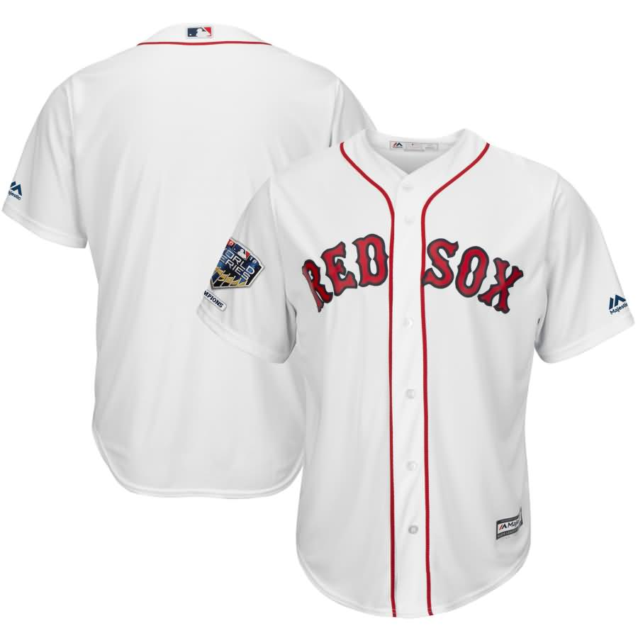 Boston Red Sox Majestic 2018 World Series Champions Home Cool Base Team Jersey - White
