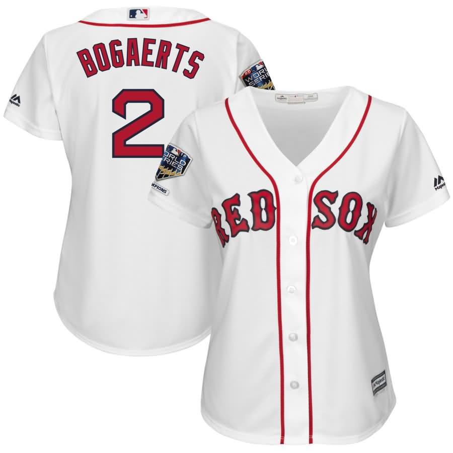 Xander Bogaerts Boston Red Sox Majestic Women's 2018 World Series Champions Home Cool Base Player Jersey - White