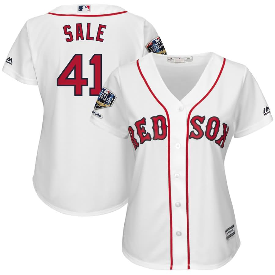 Chris Sale Boston Red Sox Majestic Women's 2018 World Series Champions Home Cool Base Player Jersey - White