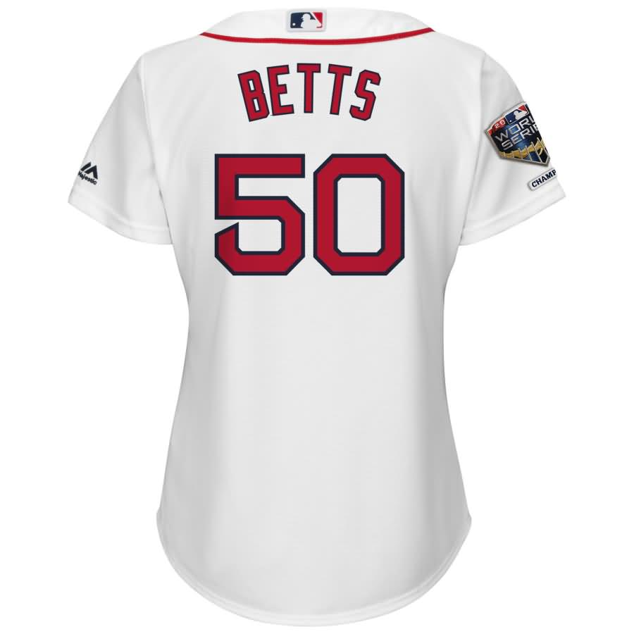 Mookie Betts Boston Red Sox Majestic Women's 2018 World Series Champions Home Cool Base Player Jersey - White