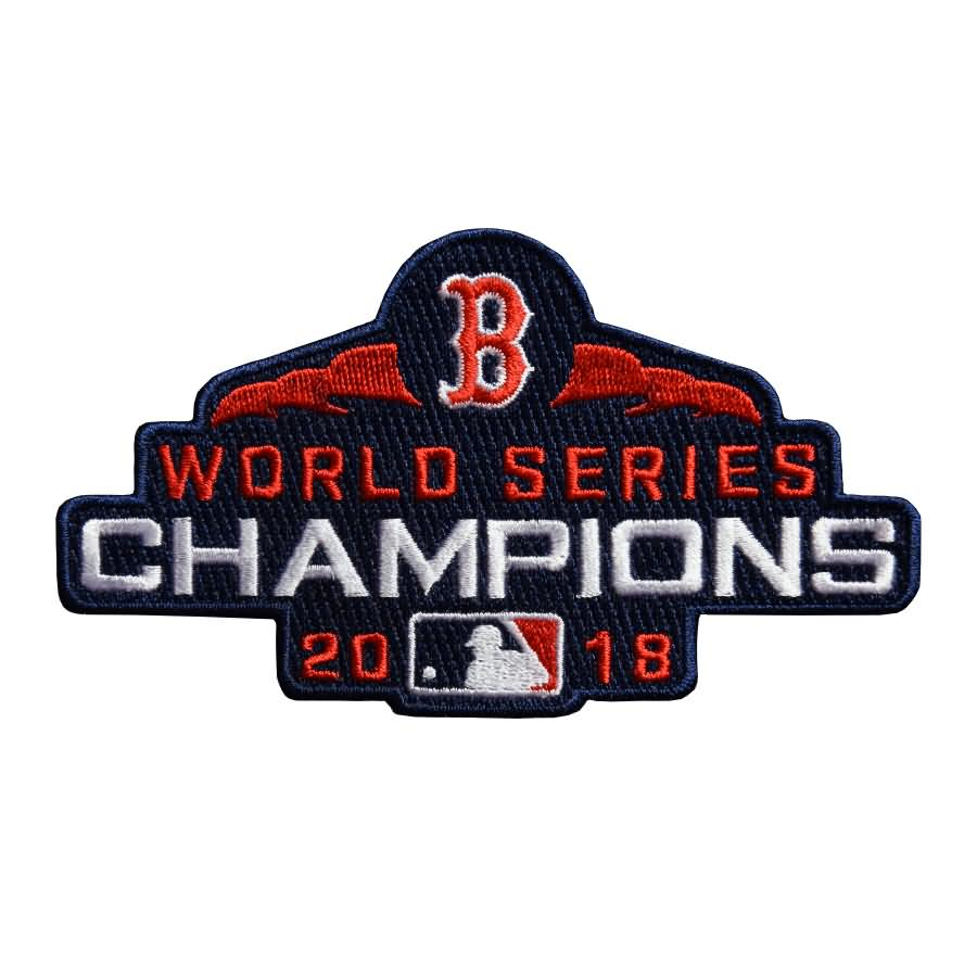 Mookie Betts Boston Red Sox Majestic Youth 2018 World Series Champions Team Logo Player Jersey - White