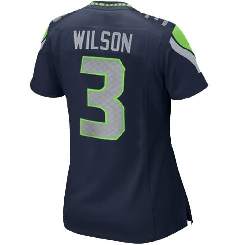 Russell Wilson Seattle Seahawks Nike Girls Youth Replica Game Jersey - College Navy