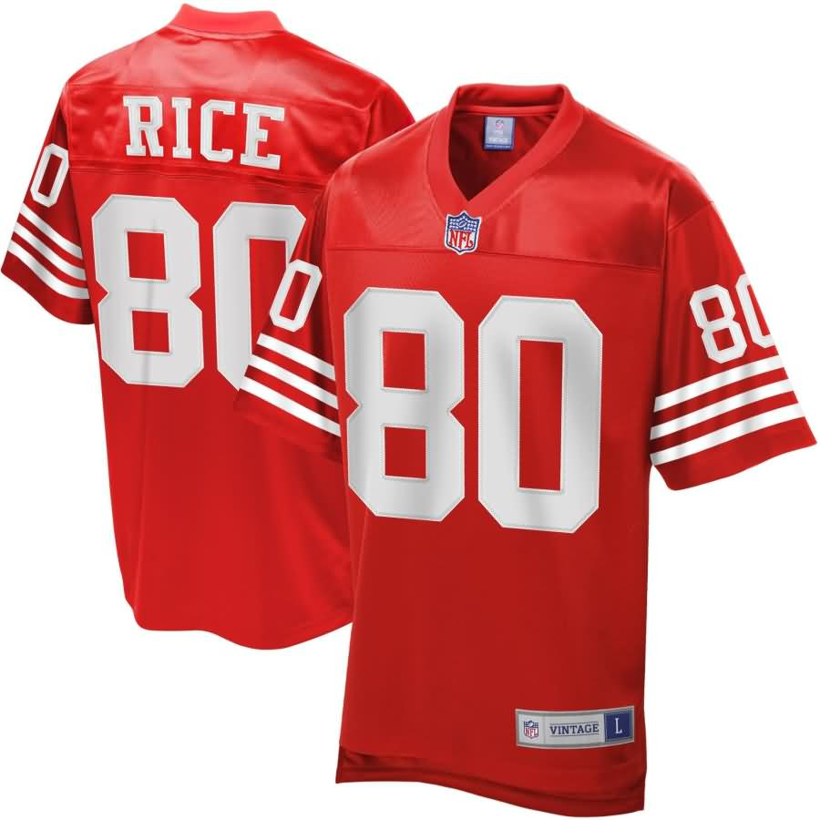 Men's NFL Pro Line San Francisco 49ers Jerry Rice Retired Player Jersey