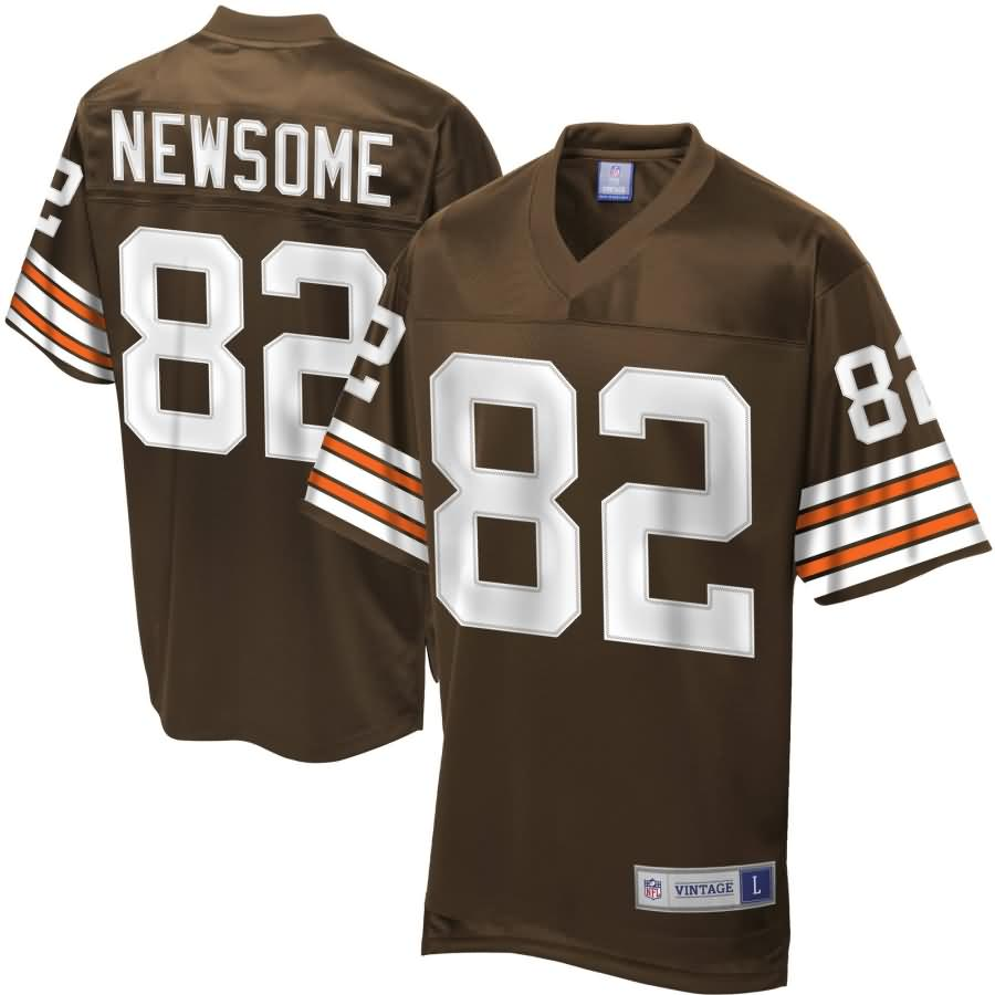 Men's NFL Pro Line Cleveland Browns Historic Logo Ozzie Newsome Retired Player Jersey