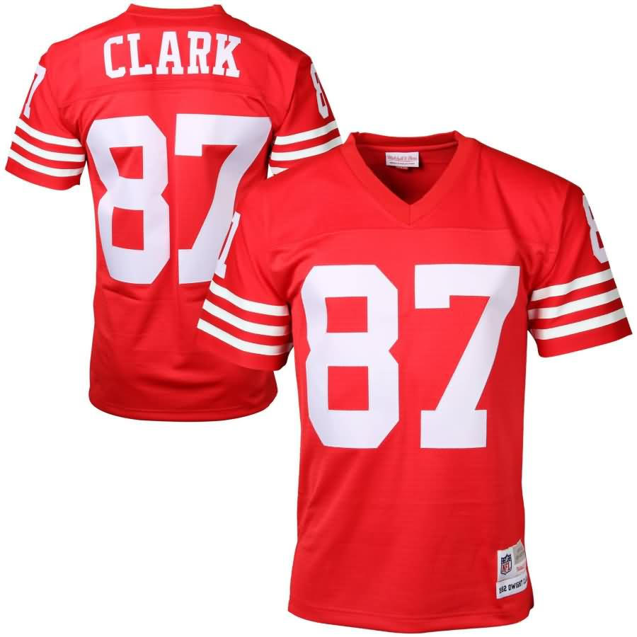 Dwight Clark San Francisco 49ers Mitchell & Ness Retired Player Vintage Replica Jersey - Scarlet