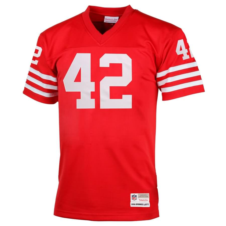 Ronnie Lott San Francisco 49ers Mitchell & Ness Retired Player Vintage Replica Jersey - Scarlet