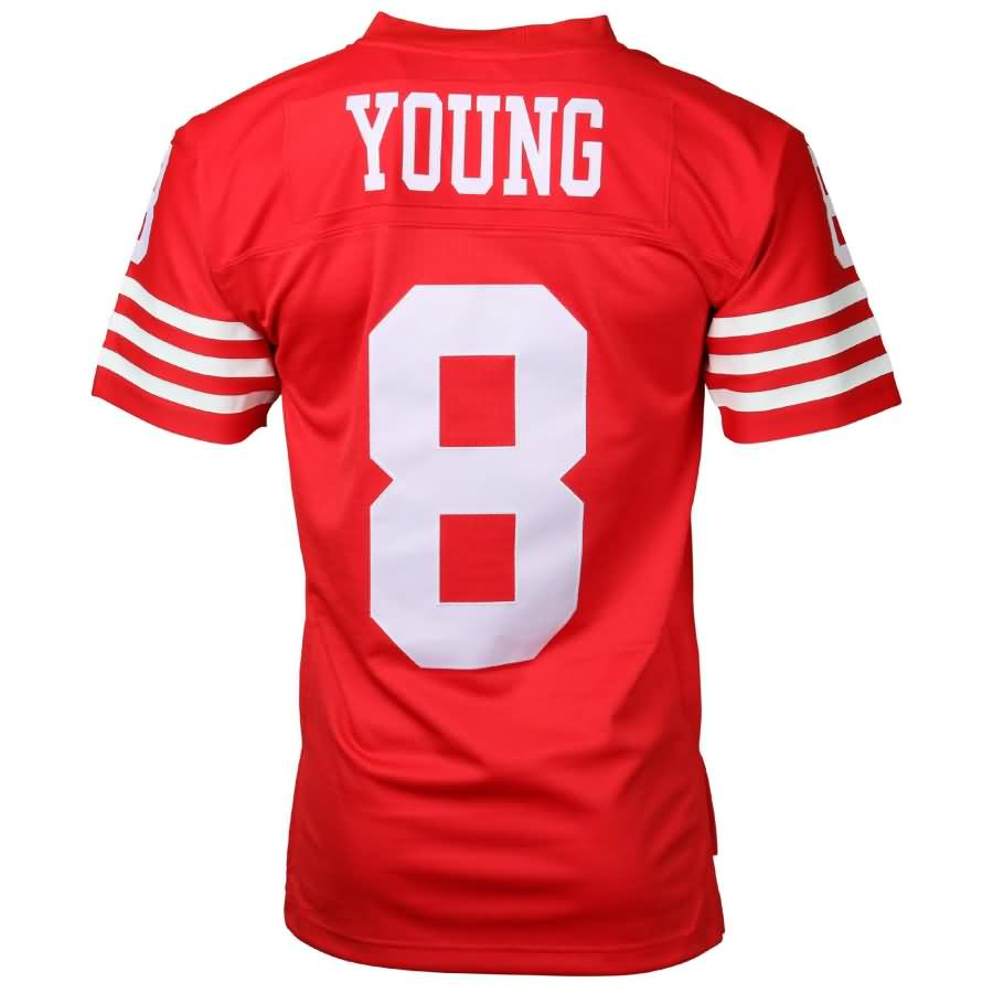 Steve Young San Francisco 49ers Mitchell & Ness Retired Player Vintage Replica Jersey - Scarlet