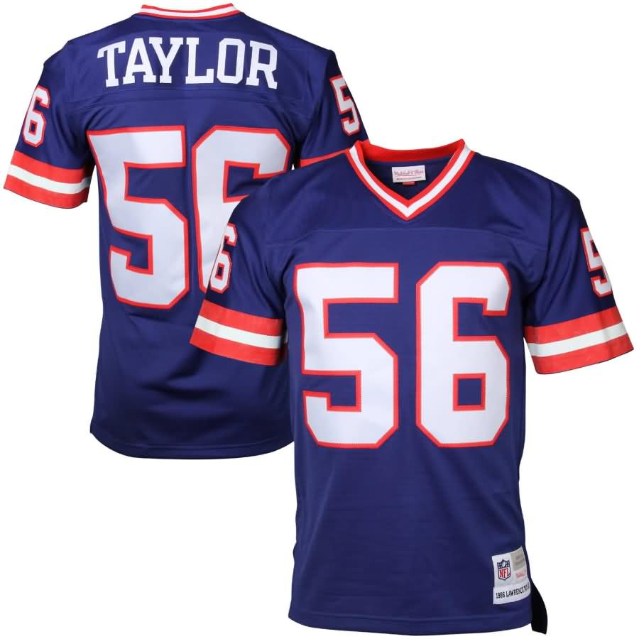 Lawrence Taylor New York Giants Mitchell & Ness Retired Player Vintage Replica Jersey - Royal Blue
