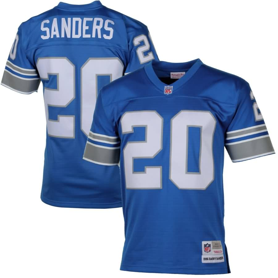 Barry Sanders Detroit Lions Mitchell & Ness Retired Player Vintage Replica Jersey - Honolulu Blue