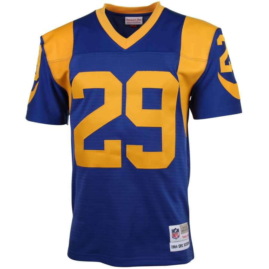 Eric Dickerson Los Angeles Rams Mitchell & Ness 1984 Retired Player Vintage Replica Jersey - Blue