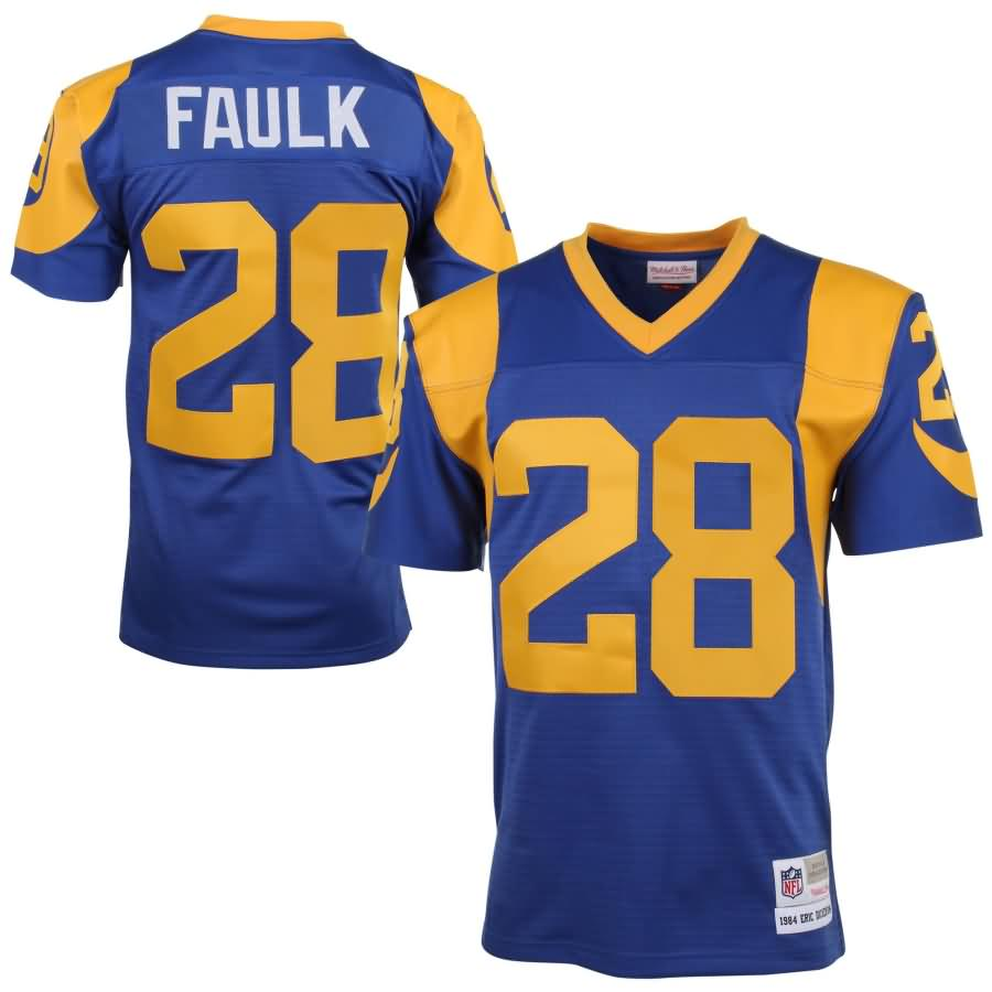 Marshall Faulk St. Louis Rams Mitchell & Ness 1999 Retired Player Vintage Replica Jersey - Royal Blue/Yellow