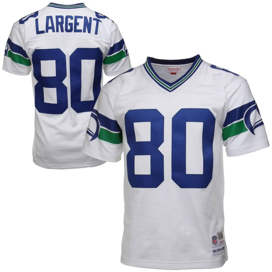 Steve Largent Seattle Seahawks Mitchell & Ness 1985 Retired Player Vintage Replica Jersey - White