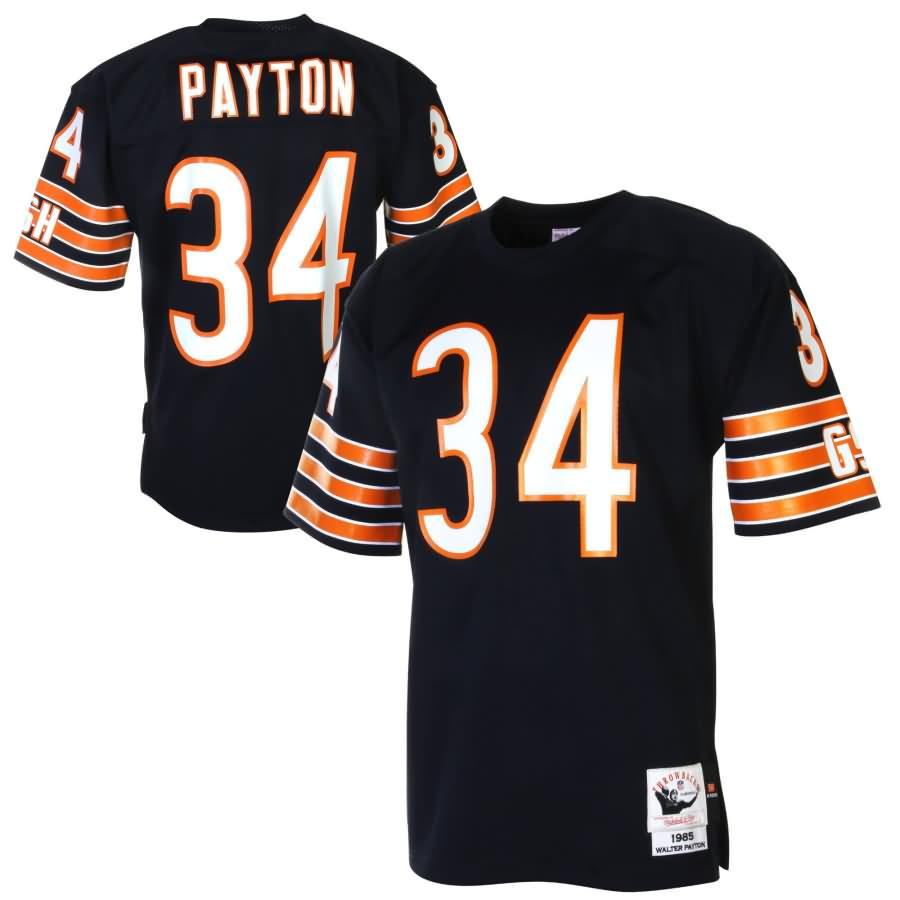 Walter Payton Chicago Bears Mitchell & Ness 1985 Authentic Throwback Jersey - Navy Blue