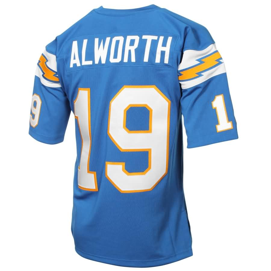 Lance Alworth San Diego Chargers Mitchell & Ness Authentic Throwback Jersey - Light Blue
