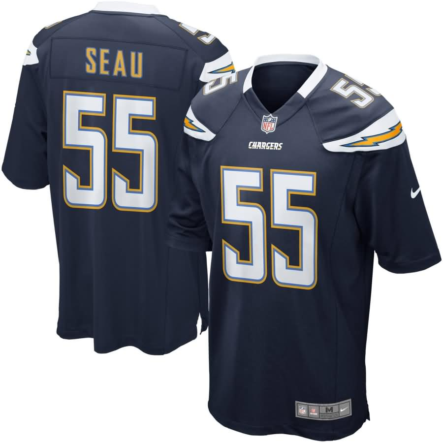San Diego Chargers Nike Junior Seau Retired Player Game Jersey - Navy