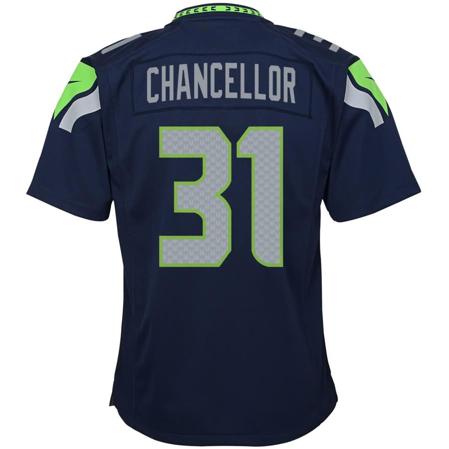 Kam Chancellor Seattle Seahawks Nike Youth Team Color Game Jersey - College Navy