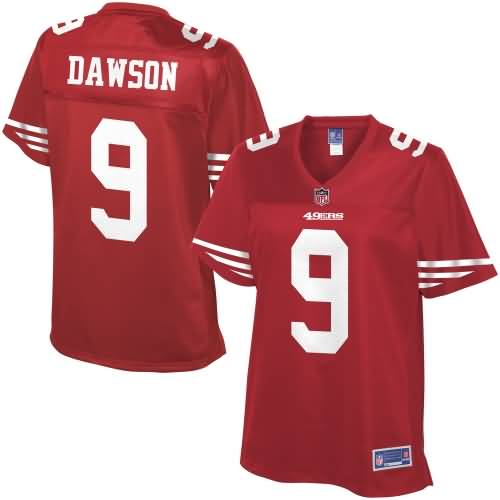 Pro Line Women's San Francisco 49ers Phil Dawson Team Color Jersey - #9 - Red