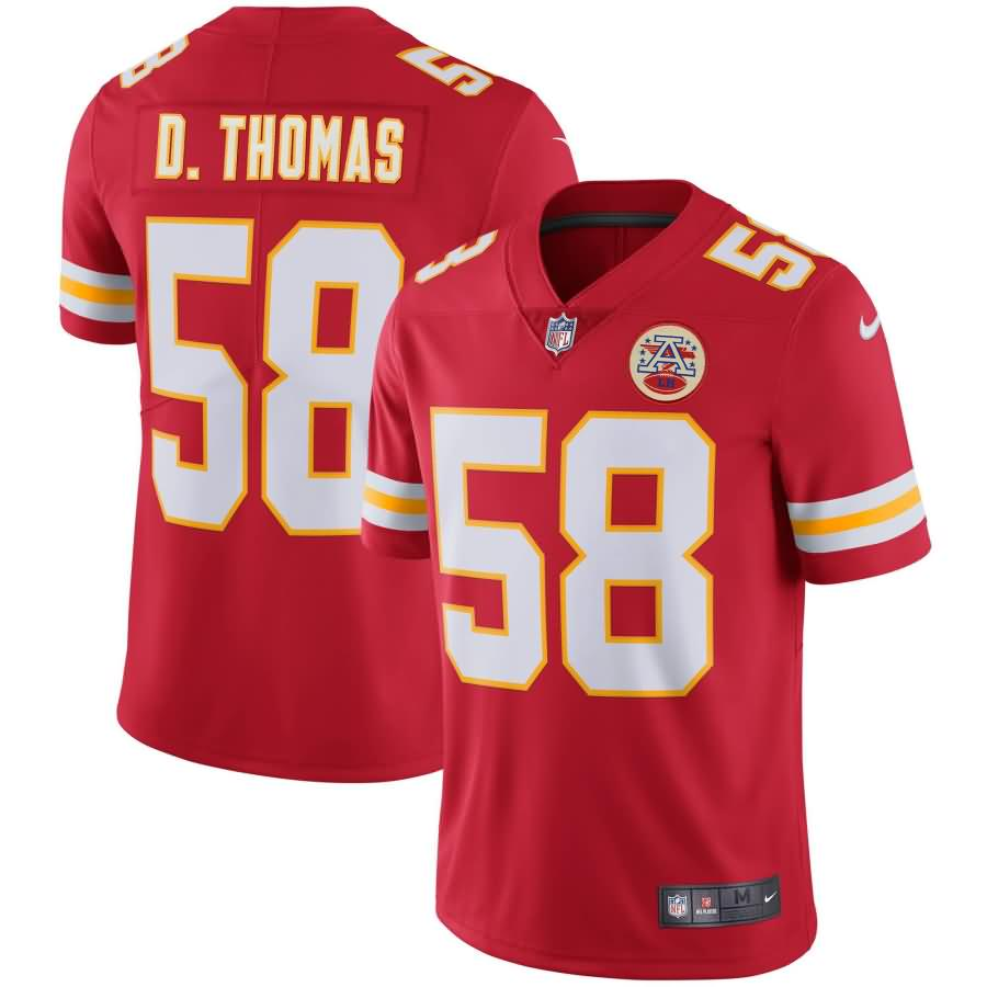 Derrick Thomas Kansas City Chiefs Nike Retired Player Vapor Untouchable Limited Throwback Jersey - Red