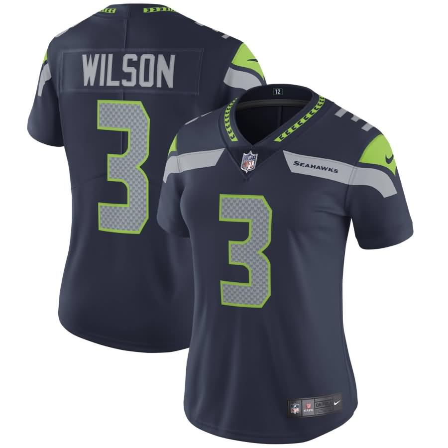 Russell Wilson Seattle Seahawks Nike Women's Vapor Untouchable Limited Player Jersey - College Navy
