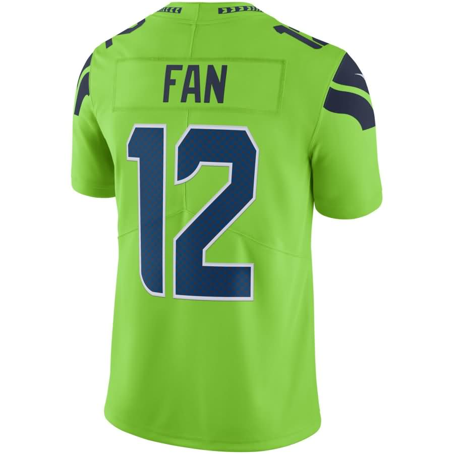 12s Seattle Seahawks Nike Vapor Untouchable Color Rush Limited Player Jersey - Neon Green