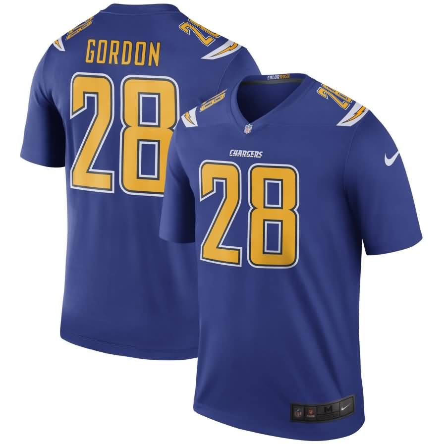 Melvin Gordon III Los Angeles Chargers Nike Color Rush Legend Jersey - Royal