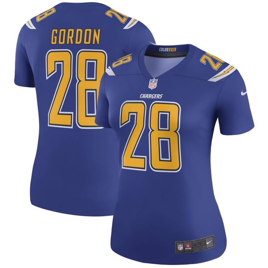 Melvin Gordon III Los Angeles Chargers Nike Women's Color Rush Legend Jersey - Royal