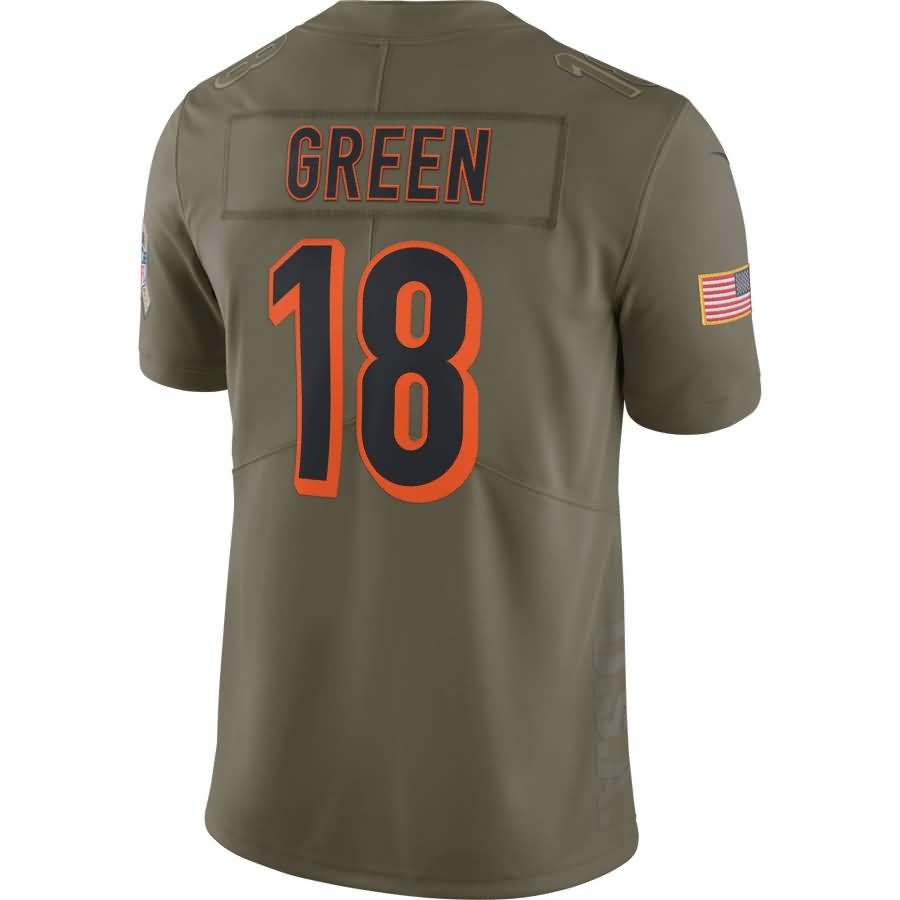 A.J. Green Cincinnati Bengals Nike Salute To Service Limited Jersey - Olive