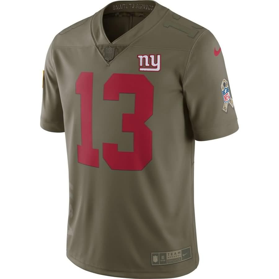 Odell Beckham Jr New York Giants Nike Salute To Service Limited Jersey - Olive