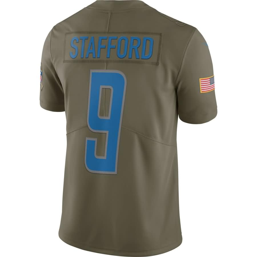 Matthew Stafford Detroit Lions Nike Salute To Service Limited Jersey - Olive