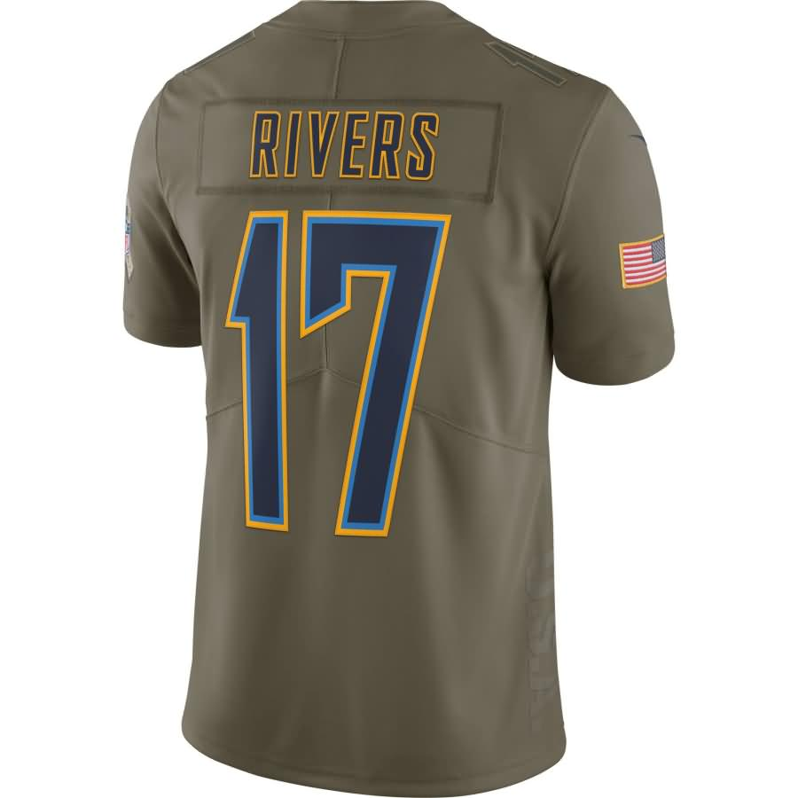 Philip Rivers Los Angeles Chargers Nike Salute To Service Limited Jersey - Olive