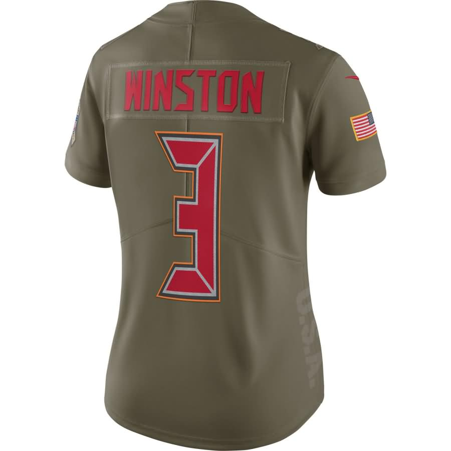 Jameis Winston Tampa Bay Buccaneers Nike Women's Salute to Service Limited Jersey - Olive