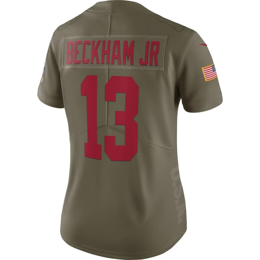 Odell Beckham Jr New York Giants Nike Women's Salute to Service Limited Jersey - Olive
