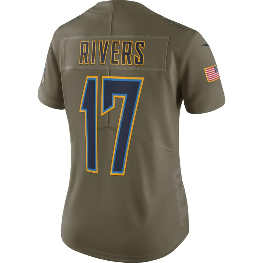 Philip Rivers Los Angeles Chargers Nike Women's Salute to Service Limited Jersey - Olive