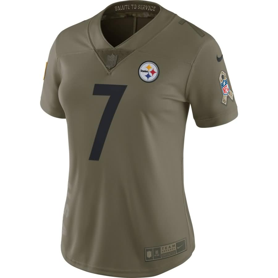 Ben Roethlisberger Pittsburgh Steelers Nike Women's Salute to Service Limited Jersey - Olive