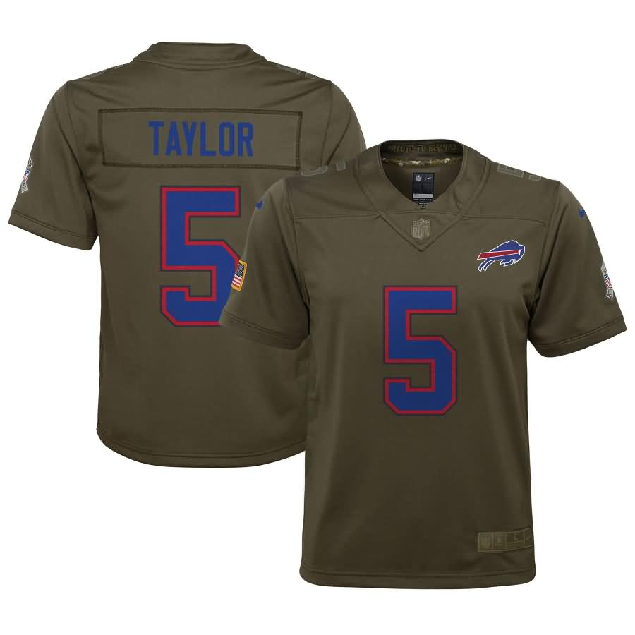 Tyrod Taylor Buffalo Bills Nike Youth Salute to Service Game Jersey - Olive