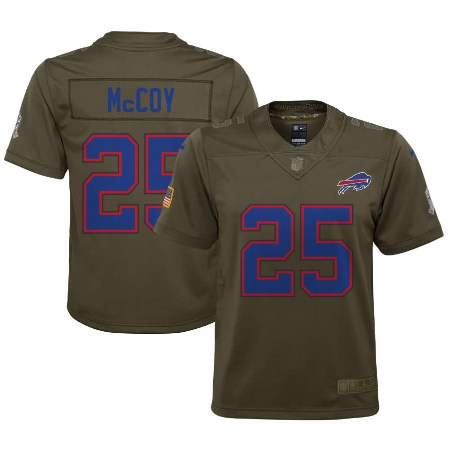 LeSean McCoy Buffalo Bills Nike Youth Salute to Service Game Jersey - Olive