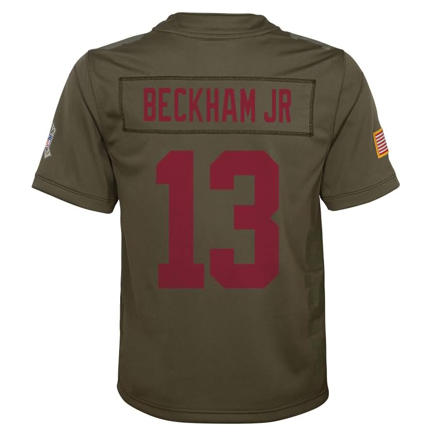 Odell Beckham Jr New York Giants Nike Youth Salute to Service Game Jersey - Olive