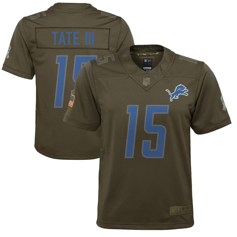 Golden Tate Detroit Lions Nike Youth Salute to Service Game Jersey - Olive